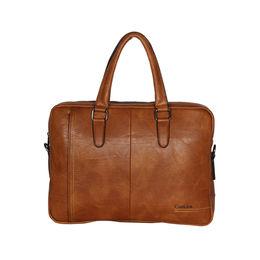 ESBEDA Solid Pattern Grain Laptop Bag,  tan