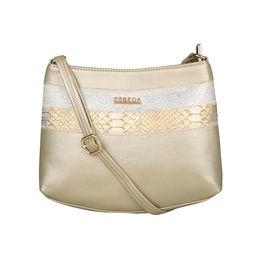 ESBEDA Medium Size Chunky Glitter Slingbag For Womens-A00100042-40,  gold
