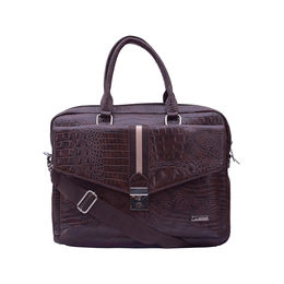 ESBEDA Animal texture Pattern Croco Laptop Bag 001004263,  brown