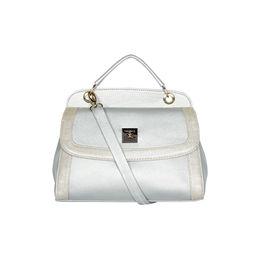 ESBEDA Solid Pattern Twosided Handbag For Women,  silver