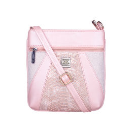ESBEDA Medium Size Damask Slingbag For Womens-A00100042-42,  pink