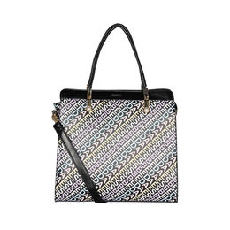 ESBEDA Printed Pattern Logo font handbag For Women,  black