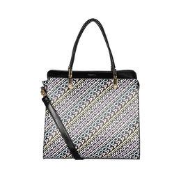 ESBEDA Printed Pattern Logo font handbag For Women,  black