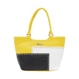 ESBEDA HANDBAG SH17062017,  yellow-black-white