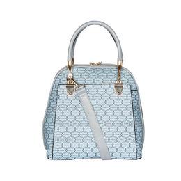 ESBEDA Printed Pattern Signature Logo handbag For Women,  light blue