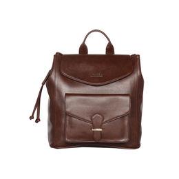 ESBEDA Magnet Closure Taslan Covertible Backpack For Women,  brown