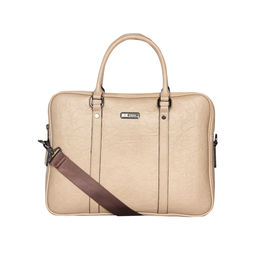 ESBEDA Solid Pattern Paperish Laptop Bag,  apricot