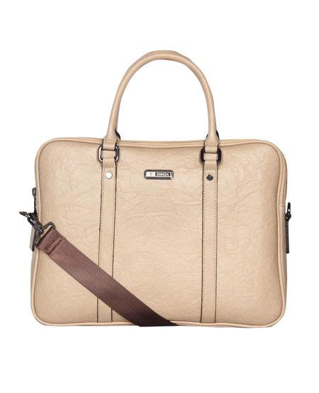 ESBEDA Solid Pattern Paperish Laptop Bag,  apricot