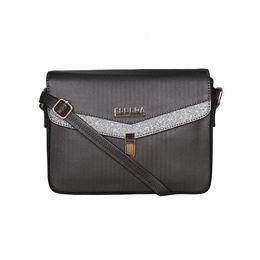ESBEDA Black Color MEDIUM Size Glitter Slingbag For Women,  grey