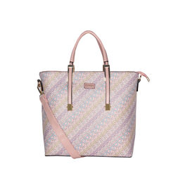ESBEDA Printed Pattern Logo font handbag For Women,  pink