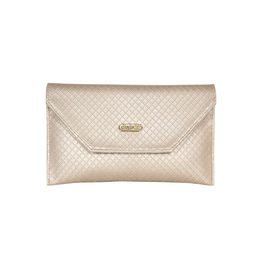 ESBEDA Checkred Gold Color Clutch For Women,  gold