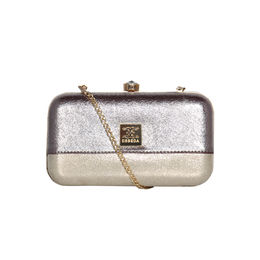 ESBEDA Solid Pattern Glitter box clutch For Women,  gunmetal
