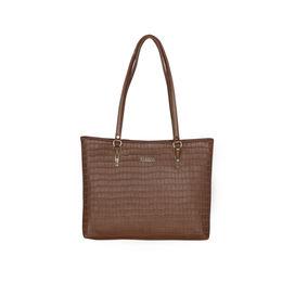 ESBEDA Embossed Textured Handbag For Women,  coffee