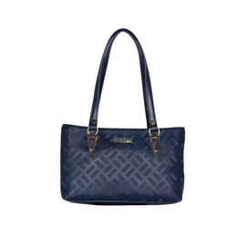 ESBEDA Embossed Textured Handbag For Women,  blue