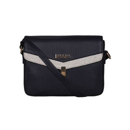 ESBEDA Black Color MEDIUM Size Glitter Slingbag For Women,  navy blue