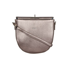 ESBEDA Small Size Solid U-Shaped Saddle Sling Bag For Women,  bronze