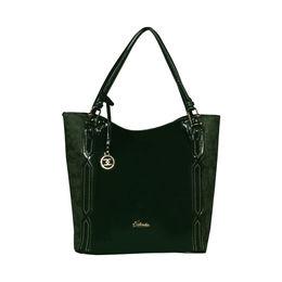 ESBEDA Solid Pattern Chevron Hobo Handbag For Women,  green