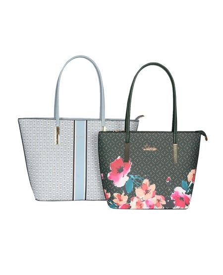 ESBEDA Printed Pattern Graphic Combo Handbag For Women,  yellow