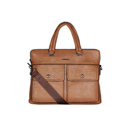 ESBEDA Solid pattern Peprish Laptop Bag,  tan