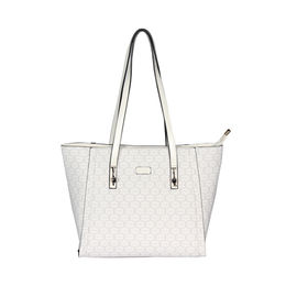 ESBEDA Printed Pattern Signature Logo handbag For Women,  white