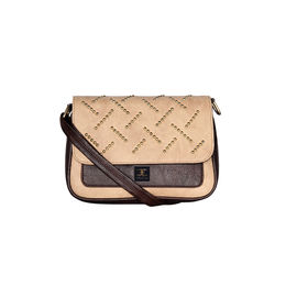 ESBEDA solid Ball stud Sling Bag For Women,  brown