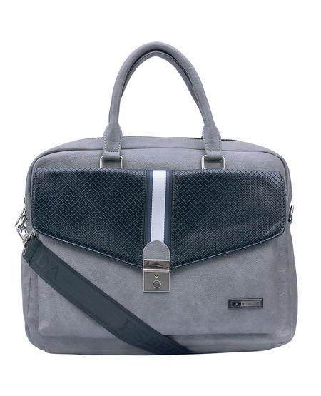 ESBEDA Solid Pattern Clipart Flap Laptop Bag 001005292,  grey