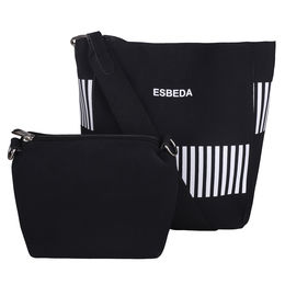 ESBEDA Solid Pattern Pastel Handbag with Pouch -1005021,  black