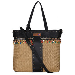 ESBEDA BIG Size Jute Tote Bag For Women,  black