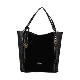 ESBEDA Solid Pattern Chevron Hobo Handbag For Women,  black