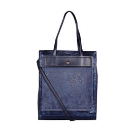 ESBEDA Printed Pattern Sparkling Sequins Handbag For Women,  navy blue