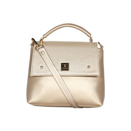 ESBEDA Solid Pattern Cinhetic Box Handbag For Women,  gold