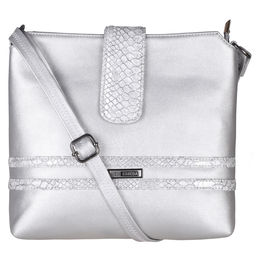 ESBEDA Solid Pattern Lucy Slingbag -1005457,  silver