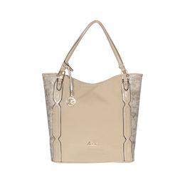 ESBEDA Solid Pattern Chevron Hobo Handbag For Women,  beige
