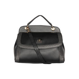 ESBEDA Solid Pattern Twosided Handbag For Women,  black