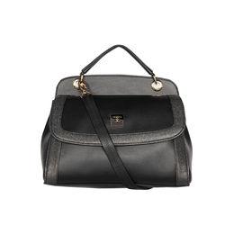 ESBEDA Solid Pattern Twosided Handbag For Women,  black