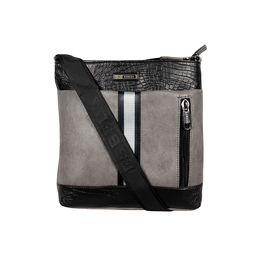 ESBEDA Mediums Size Croco Stripe Slingbag For Mens And Women.,  grey