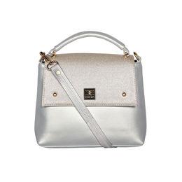 ESBEDA Solid Pattern Cinhetic Box Handbag For Women,  silver