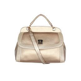 ESBEDA Solid Pattern Twosided Handbag For Women,  gold