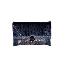 ESBEDA Printed Pattern Lurex Partywear Clutch For Women,  blue