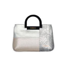 ESBEDA Medium Size Solid Cuero Armbag For Women,  silver