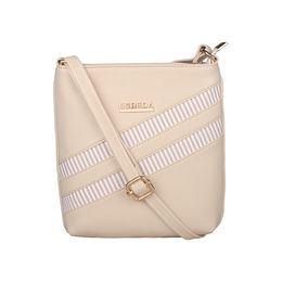 ESBEDA Medium Size Rayon Slingbag For Womens-A00100042-43,  cream