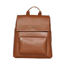 ESBEDA Magnet Closure Taslan Covertible Backpack For Women,  camel