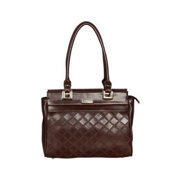ESBEDA Solid Pattern Textured Handbag For Women,  brown