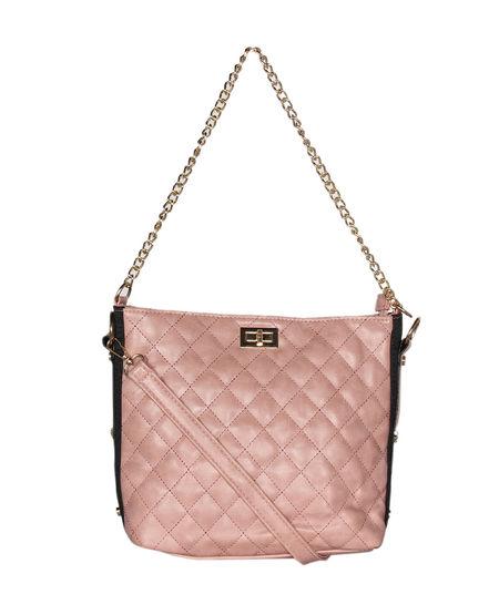 ESBEDA Solid Pattern Diamond Quilted Handbag For Women,  black