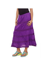 SML Originals Solid Tier Skirt, 3xl, purple