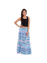 SML Originals Printed Cotton Long Skirt, 2xl, multi