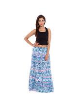 SML Originals Printed Cotton Long Skirt, 2xl, multi
