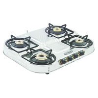 Sunshine Skytech Step Plus Four Burner Stainless Steel Gas Stove, lpg, manual