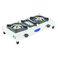 Sunshine DT SS Double Burner Stainless Steel Gas Stove, lpg, manual