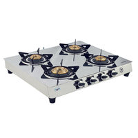 Sunshine Brilliante Four Burner Mirror Gas Stove, lpg, manual